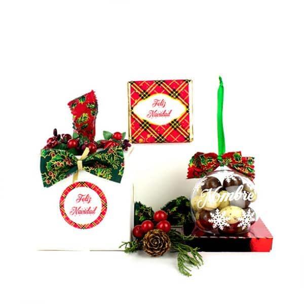 Regalo Original de Navidad: Bola de Navidad con Chocolate