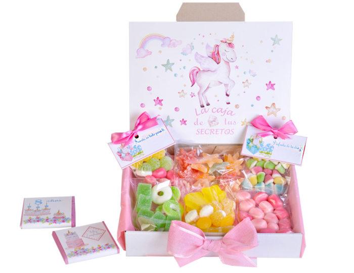 cajas chuches unicornio