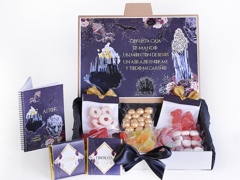 regalo original cumpleaños - caja de golosinas para regalar