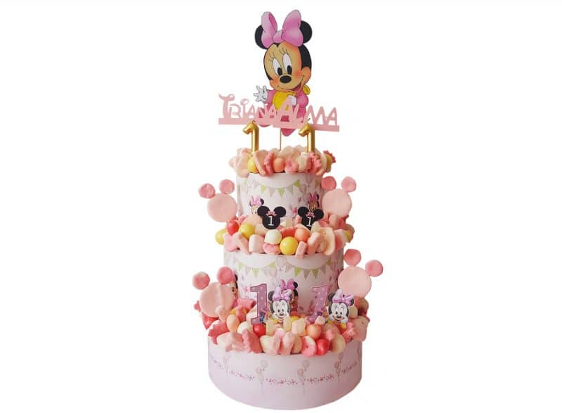 Tarta de gominolas Minnie