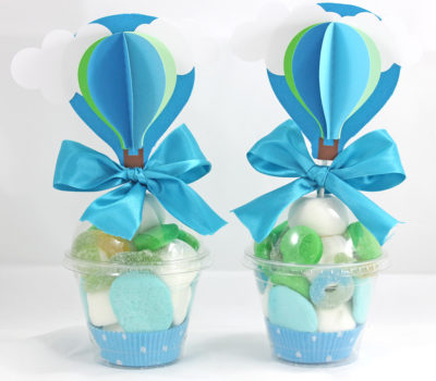 Vaso de Golosinas Cupcake Blue