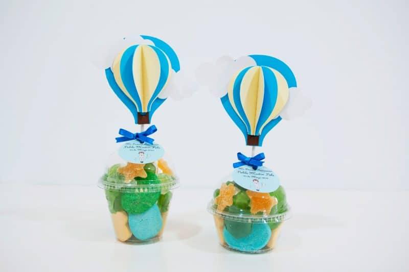 vaso de chuches con globo